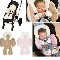 Outdoor Travel Reversible Baby Body Support Stroller Pram Seat Cushion Car Seat Head Body Reversible Support Safe Pad Liner