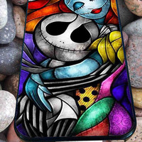 Jack Skellington With Sally Figurine Art for iPhone 4/4s/5/5S/5C/6, Samsung S3/S4/S5 Unique Case *95*