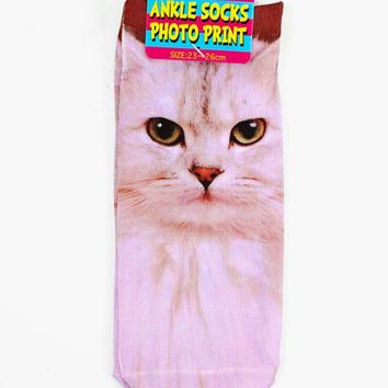 Cool Cat Ankle Socks