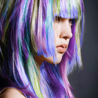 Pastels - 6 STICKS - Hair Chalk Temporary Hair Color - Ombre Hair Dying - Hair Chalking