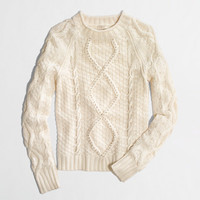 FACTORY BEADED-CABLE SWEATER