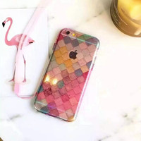Fashion color diamond phone case for iphone 6 6s 6 plus 6s plus + Nice gift box 080902
