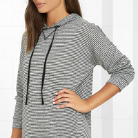 Olive & Oak Roaming Home Heather Grey Striped Hoodie