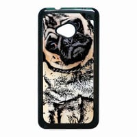 pugs alot dog for HTC One M7 case *NS*