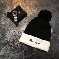 Champion Embroidered Logo Knit Hat Cap