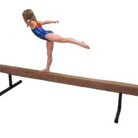 "Balance Beam - BB4-12 - Padded Suede 4 Foot Balance Beam (Tan) with 12"" Riser Legs"