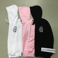 New ANTI SOCIAL SOCIAL CLUB ASSC Classic HOODIE hiphop Men Kanye Yeezy Hoodies Palace Skateboard Hoodies Men Pullover 1:1 Qualit