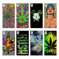 Abstractionism Art high weed tumblr (1) skin hard White phone case cover for Sony Xperia z5 z4 z3 z2 z1 M5 M4 Aqua XA