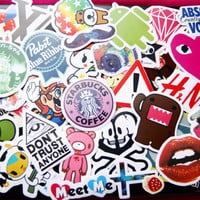 100 PCS Random Mixed Laptop Skateboard Guitar Decoration Graffiti Stickers Pack Lot 100 pieces