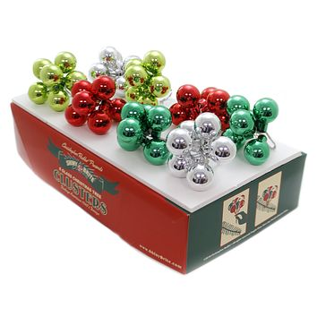 Shiny Brite Hs Clusters Ornaments Holiday Splendor St/8 Christmas - 4027580