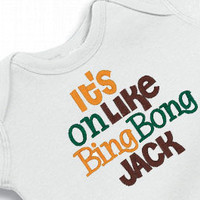 Boys Duck Dynasty Onesuit It's on like Bing Bong Jack Creeper Embroidered