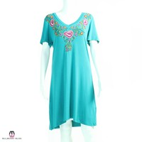 Caite Embroidered Knit Dress