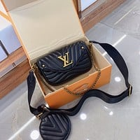 Louis Vuitton LV Women's Tote Bag Handbag Shopping Leather Tote Crossbody Satchel 0503