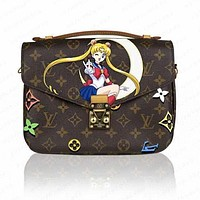 LV Louis Vuitton High Quality New Women Leather Handbag Crossbody Satchel Shoulder Bag