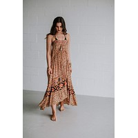 Bohemian Whispers Maxi Dress - Orange