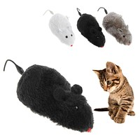 Clockwork Wind Funny Running Mouse Rat Move Tail Cat Kitten Prank Toy Gift