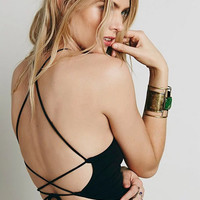 Back Cross Straps Crop Top