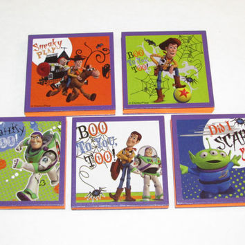 Disney Toy Story Halloween  Note Pads Set of 5 - Excellent Halloween Party Favors - Halloween Class Gifts