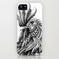 Ornately Decorated Rooster iPhone Case by BioWorkZ | Society6