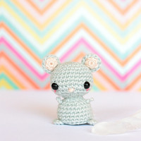Mini crochet mouse doll, Crochet amigurumi animals doll, Crochet plush mouse, Amigurumi crochet animals, Cute plush animals, Knit mouse