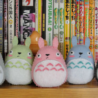Egg-shaped (and armless) Totoro plushie magnets