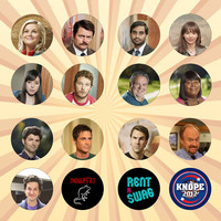 PARKS AND RECREATION Set of 16 - 1 Inch Pinback Buttons or Magnets