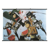 Attack On Titan Watermelon Fight Wall Scroll