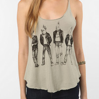 Urban Outfitters - Punk Rock Birds Raw Edge Tank Top
