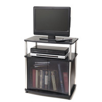 Convenience Concepts 151056 Designs 2 Go Black TV Stand with Cabinet
