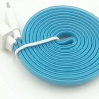 Streer® 1 PCS 10 FT 3 M Extra Long 8 Pin to USB 3 Meter Sync Transfer Data and Charger Cord Wire for iPhone 6 plus, iPhone 6, iPhone 5s 5c 5, iPad Air, iPad mini, iPad mini 2, iPad 4, iPod 5, and iPod Nano 7. (Blue)