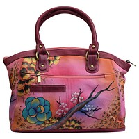 Ladies Handpainted Fall Garden Design Large Shoulder Bag Purse for Women