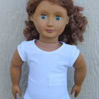 American Girl Doll White Short Sleeved Shirt