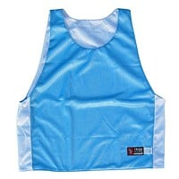 Baby Blue and White Reversible Lacrosse Pinnie