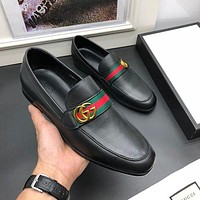 Gucci Men Fashion Boots fashionable Casual leather Breathable Sneakers Running Shoes-1130