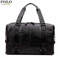 Molle Pouch Large Capacity Male Leather Travel Bag Casual Luggage Bag Handbag Multifunction Shoulder Bag