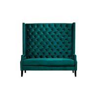 High Tufted Green Sofa | Eichholtz Spectator