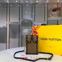 Kuyou Lv Louis Vuitton Fashion Women Men Gb2965 M63913 Monogram Small Leather Goods All Collections Pochette Trunk Verticale 11¡Á17.5¡Á3.5cm