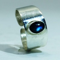 Sterling Silver Toe Ring with Labradorite