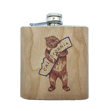 Calibear Wood Flask