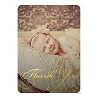 Baby Sip & See Thank You Birth Announcement