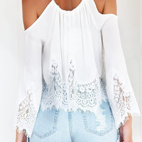 Dainty Boho Cold Shoulder Lace Top