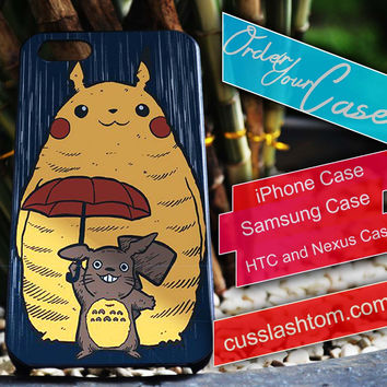 Exclusive Pikachu Totoro Pokemon iPhone for 4 5 5c 6 Plus Case, Samsung Galaxy for S3 S4 S5 Note 3 4 Case, iPod for 4 5 Case, HtC One M7 M8