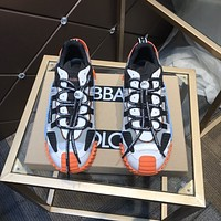 D&G  Men Fashion Boots fashionable Casual leather Breathable Sneakers Running Shoes0413em