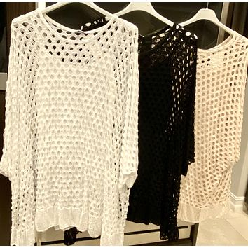MESH TUNIC WITH TANK LINING