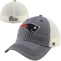 47 Brand New England Patriots Caprock Canyon Flex Hat - Natural/Navy Blue