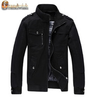2017 New Autumn & Winter  Men's Cotton Jackets Stand Collar Mens Jackets Fashion Casual Outerwear for Men Plus Size 3XL, CA114