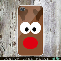 Rudolph the Red Nosed Reindeer Christmas Phone case. Add Monogram, Name or Photo - FREE Personalize! Customize! iPhone4 IPhone5 Samsung HTC