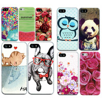 Floral Rose Phone Case Cover For iphone 7 6 4.7'' 4 4s 5 5s 5se silicone animals Cell Phone CAPA TPU SOFT Funda Bumper Cover