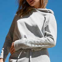 Juicy Couture For UO Gothic Crystal Hooded Velour Top | Urban Outfitters