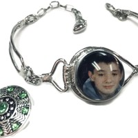 Personalized Photo Snap on Bracelet With Extra 18MM - 20MM Snap Jewelry Charms